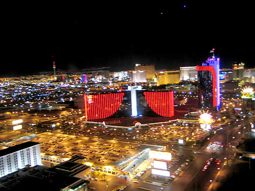 Vegas skyline view from Skybar