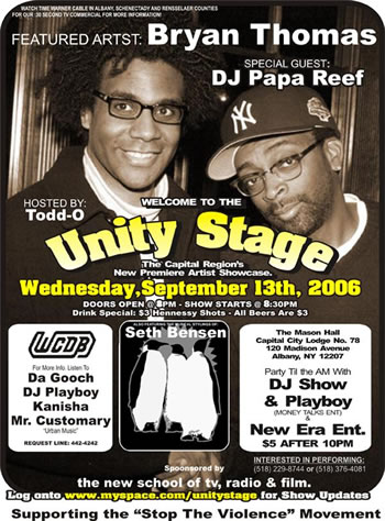 Unity Stage, Wednesday, September 13, 8 p.m.