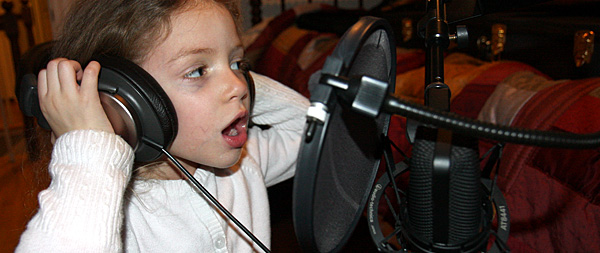 zoe at microphone