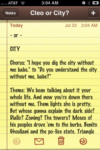 iphone notes to city